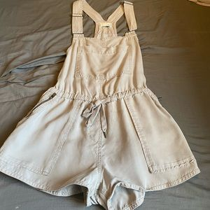 Wilfred Free XS grey-taupe overall shorts romper